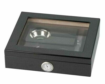 HUMIDOR 569183 CARBONLOOK SET GLASTOP 15 SIGAREN