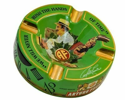 Asbak Arturo Fuente Round Decorated Ceramic Green Pos50020