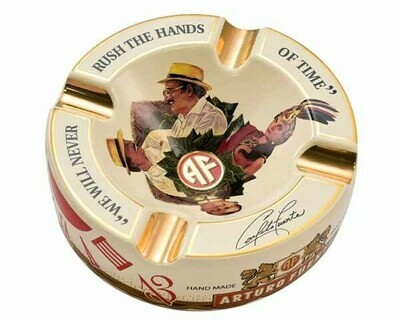 Asbak Arturo Fuente Round Decorated Ceramic Cream Pos50019