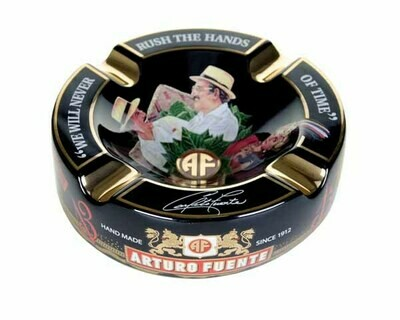 Asbak Arturo Fuente Round Decorated Ceramic Black Pos50017