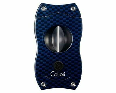 Sigarenknipper Colibri V-Cut Cu300T23 Carbon Fiber Blue