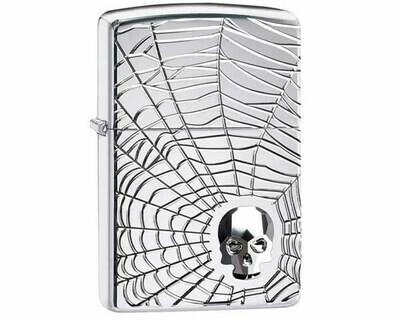 ZIPPO 60.004904 SPIDER WEB SKULL DESIGN