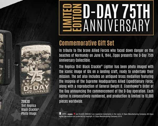 ZIPPO 60.004704 D-DAY 75TH ANN BK CRAC REPL 1941 LTD