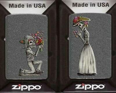 ZIPPO 60.002305 DAY OF DEAD SKULLS SET