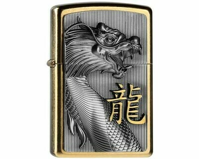 ZIPPO 2.004517 EMBLEM WITH GOLD DRAGON