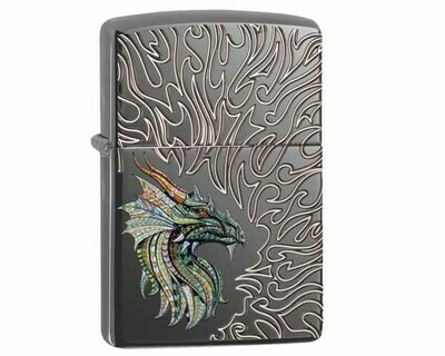 ZIPPO 60.003945 DRAGON WITH FLAMES DESIGN