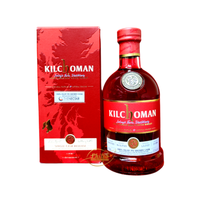 Kilchoman 2015 5Y 100% Px Sherry Cask 58,8° Bottled for The Nectar