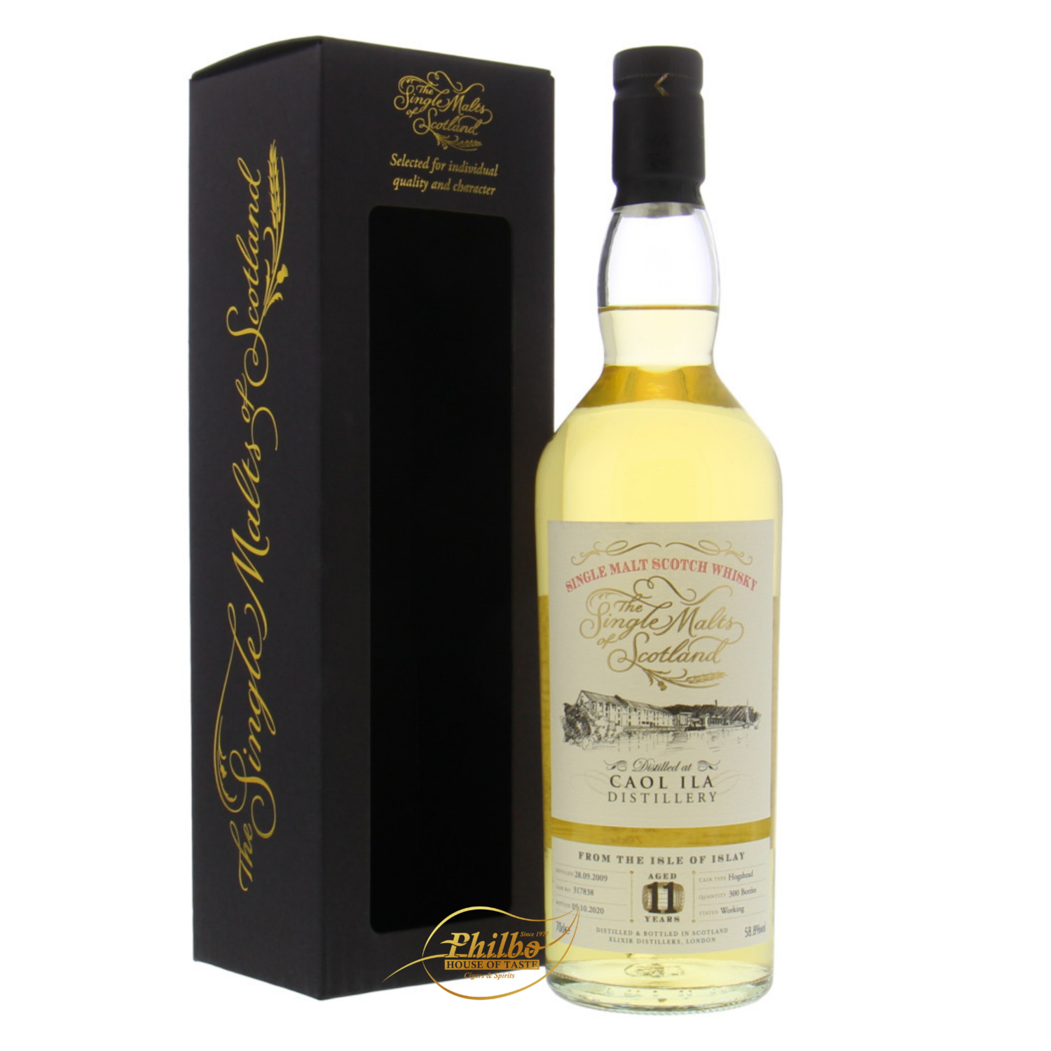 Caol Ila 11y 2009 The Single Malts of Scotland cask 317838 - 58.8% - 70cl