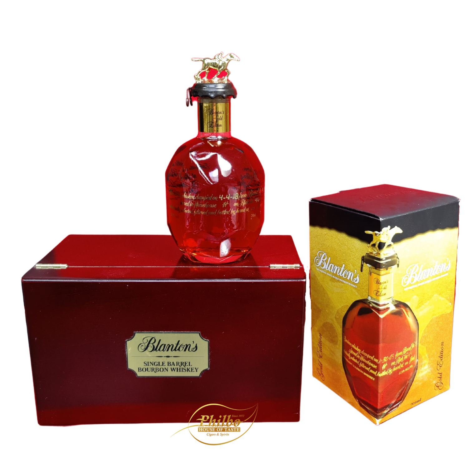 Blanton's Single Barrel Gold Edition Dumped 2018 / with Humidor 103 US PROOF / 51.5% 50cl