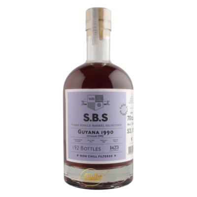 SBS 1423 GUYANA 1990 RUM UITVLUGT PORT MOURANE 53,1% 70cl (192 bottles)
