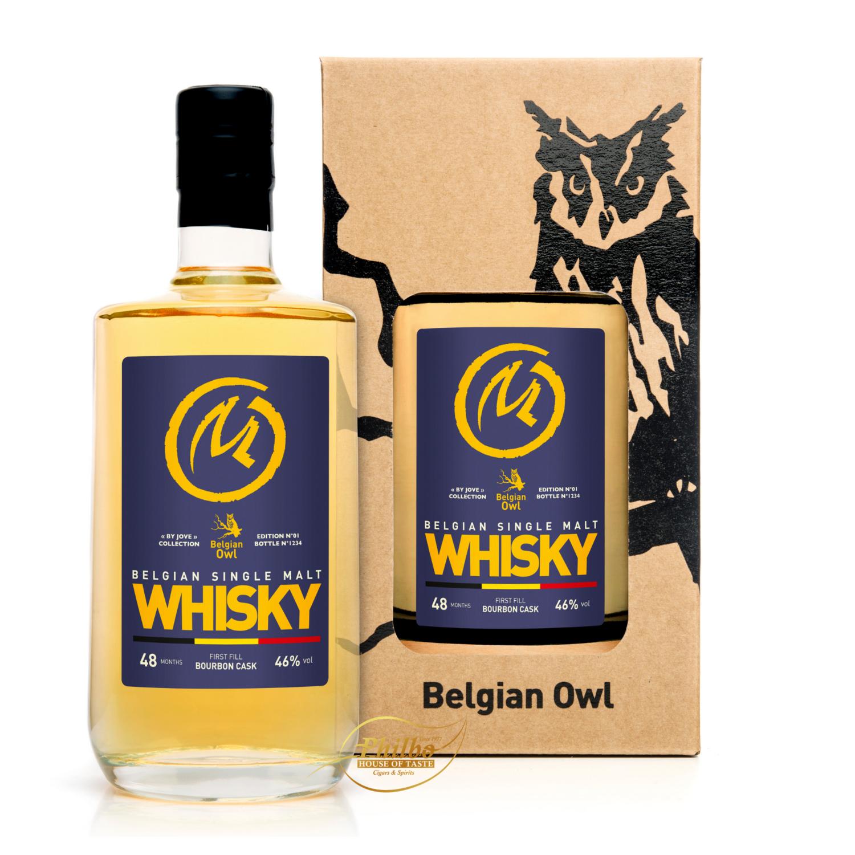 Belgian Owl Special edition By Jove - Blake & Mortimer - 46% 50cl (set 4 bottles)