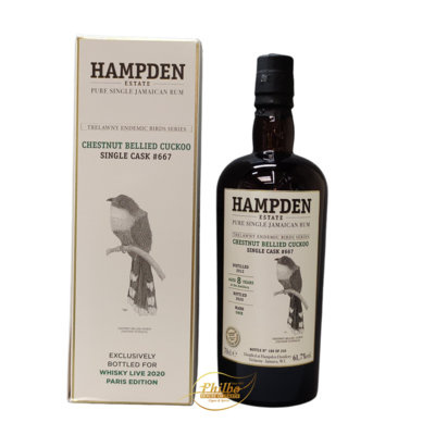 HAMPDEN Endemic Birds Series OWH 2012 Single Cask 8 Year Old #667