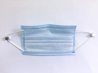 Standard-Mundschutz blau 3-lagig mit Nasenbügel