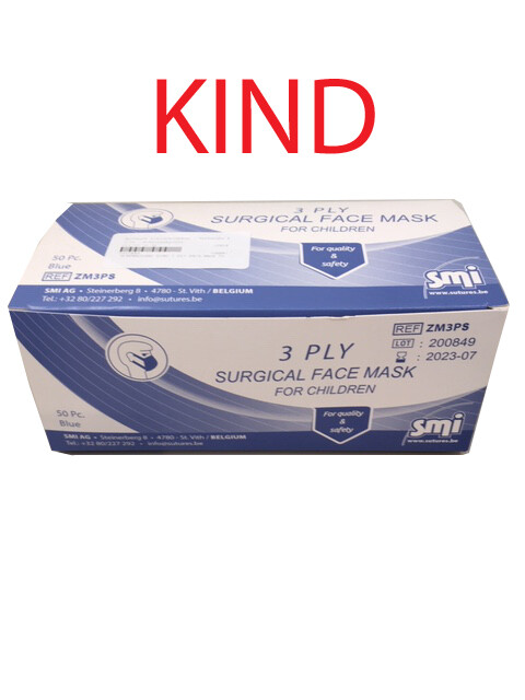 MONDMASKERS KIND 3 PLY FACE MASK 50 ST SMI