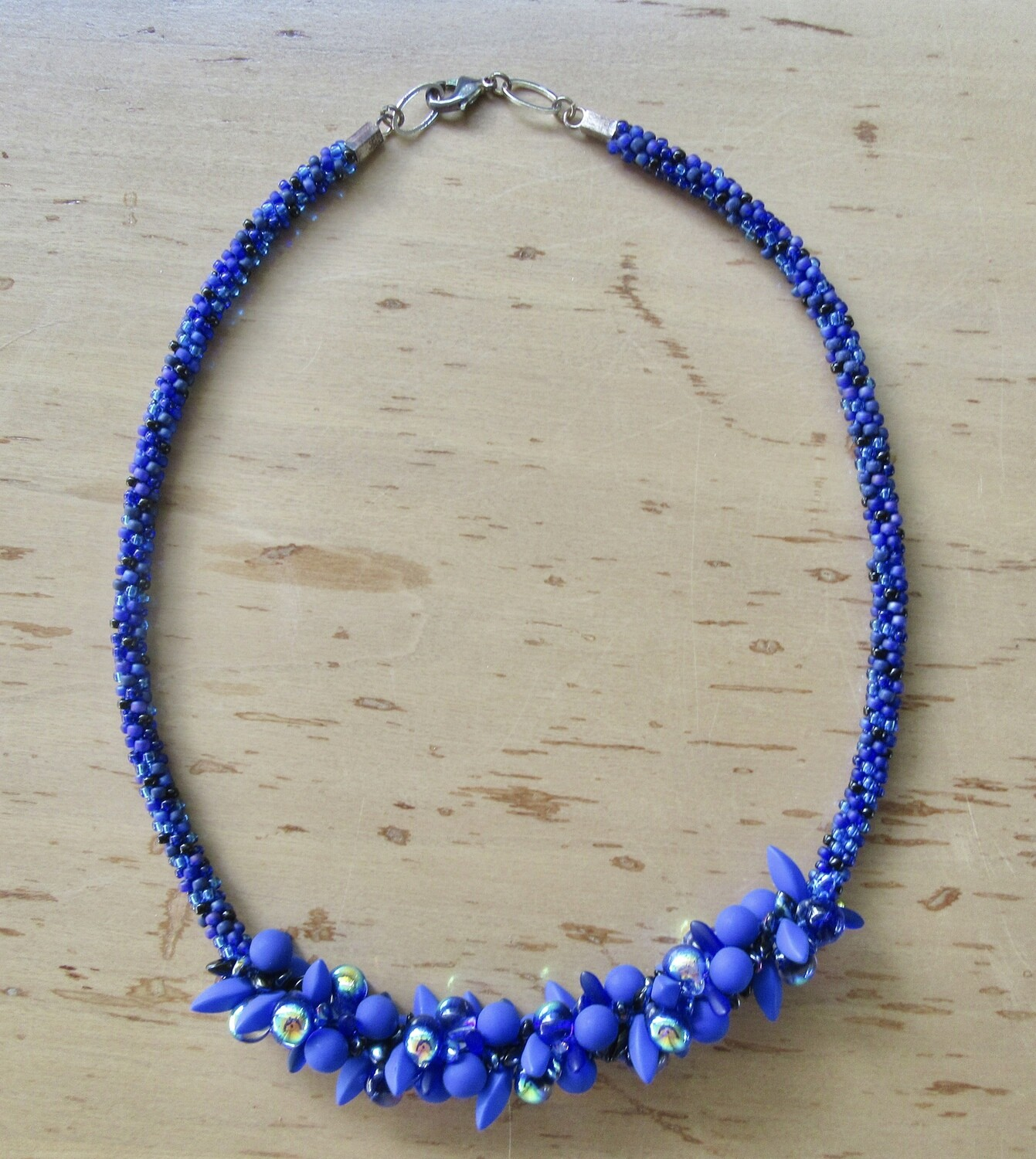 Blue beads cluster