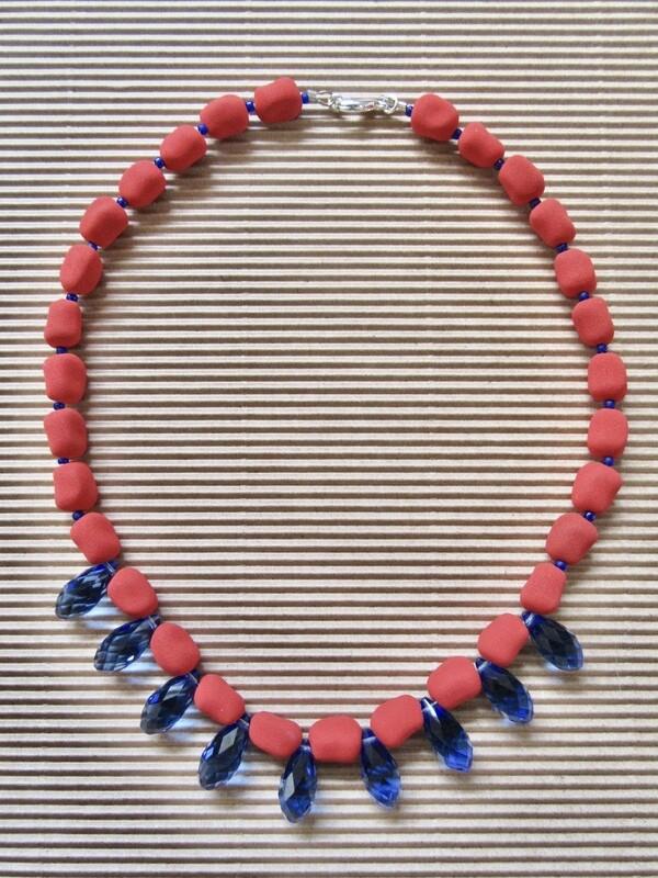 Red-blue lava tear drops
