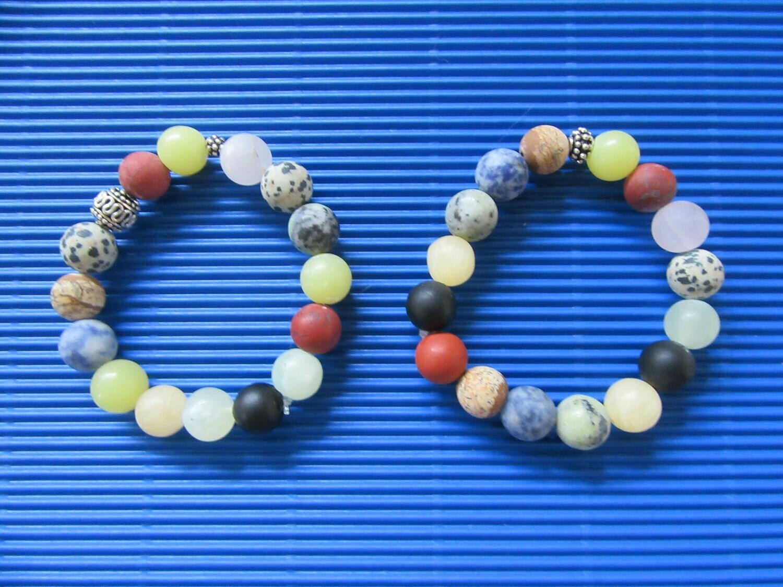 Multi coloured Agate bracelets