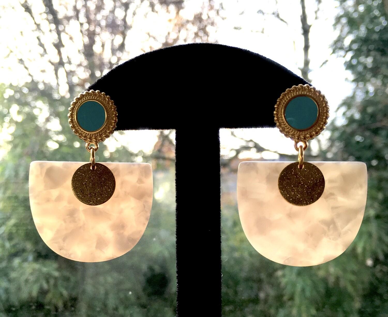 Turquoise marble fan