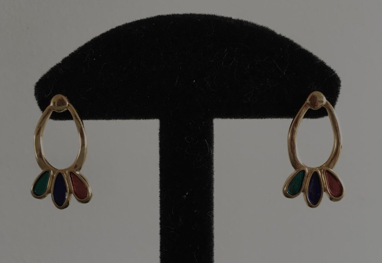 3 coloured oval