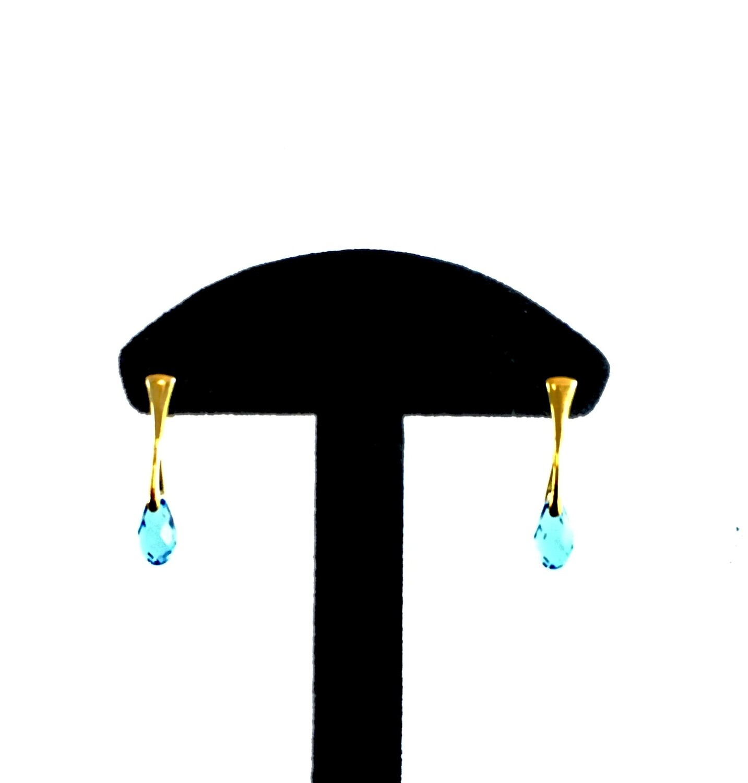 Crystal/ gold drop earrings
