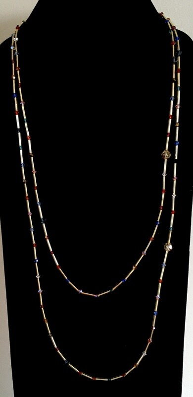 Long double necklace