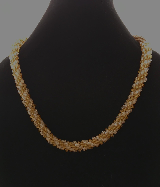 Light brown Kumihumo necklace