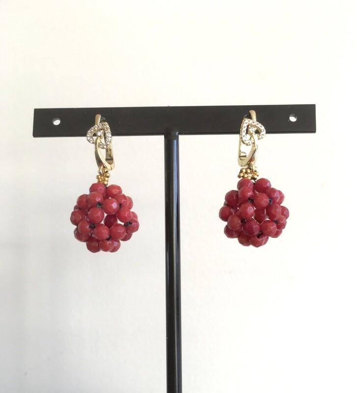 Scarlet heart earrings