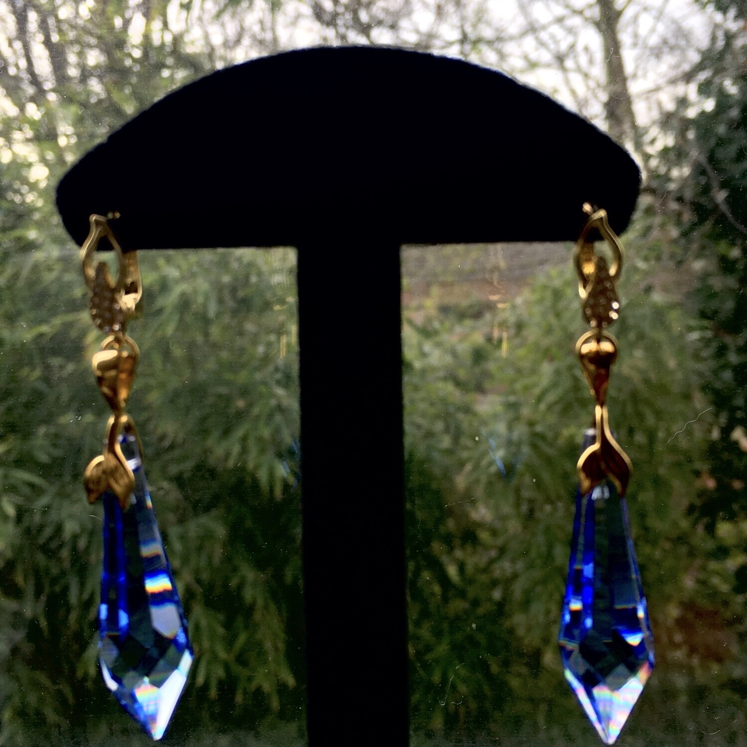Ultramarine dagger earrings
