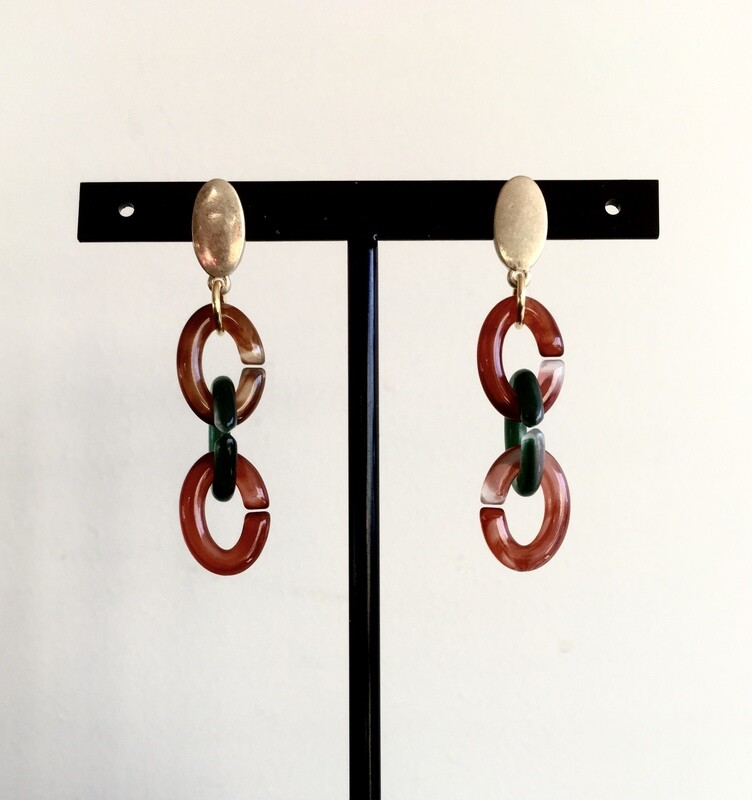 3 links earrings