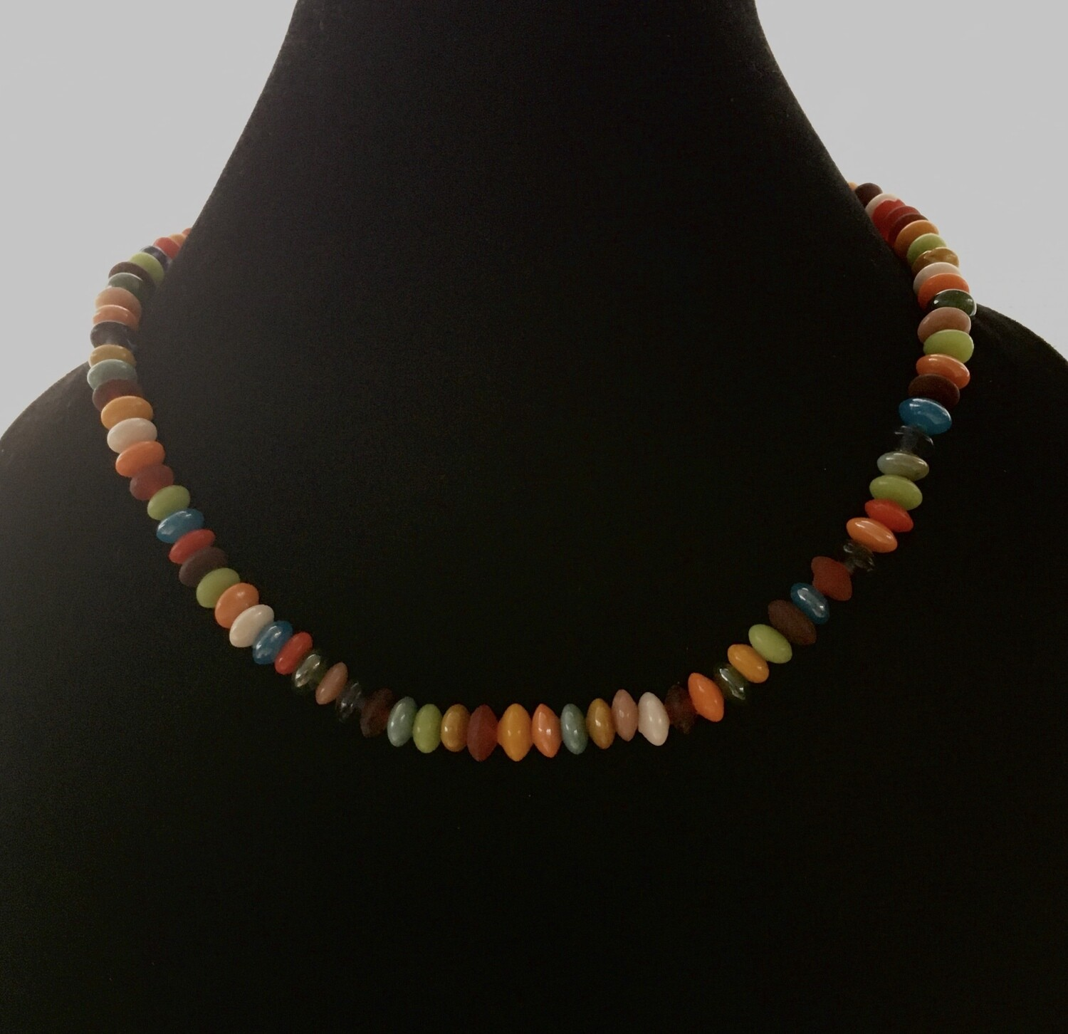 Candy coloured beads necklace