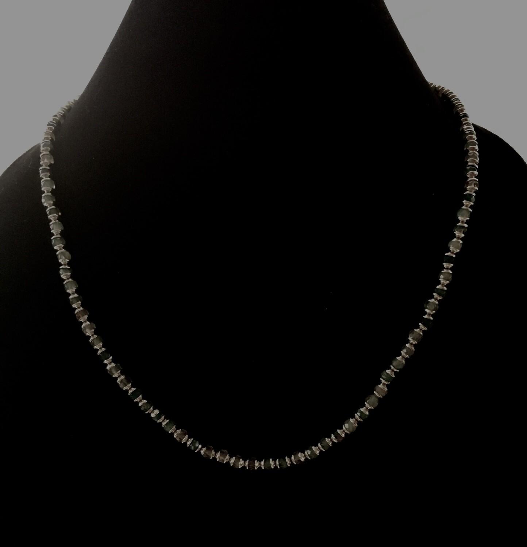 Smokey gray agate necklace