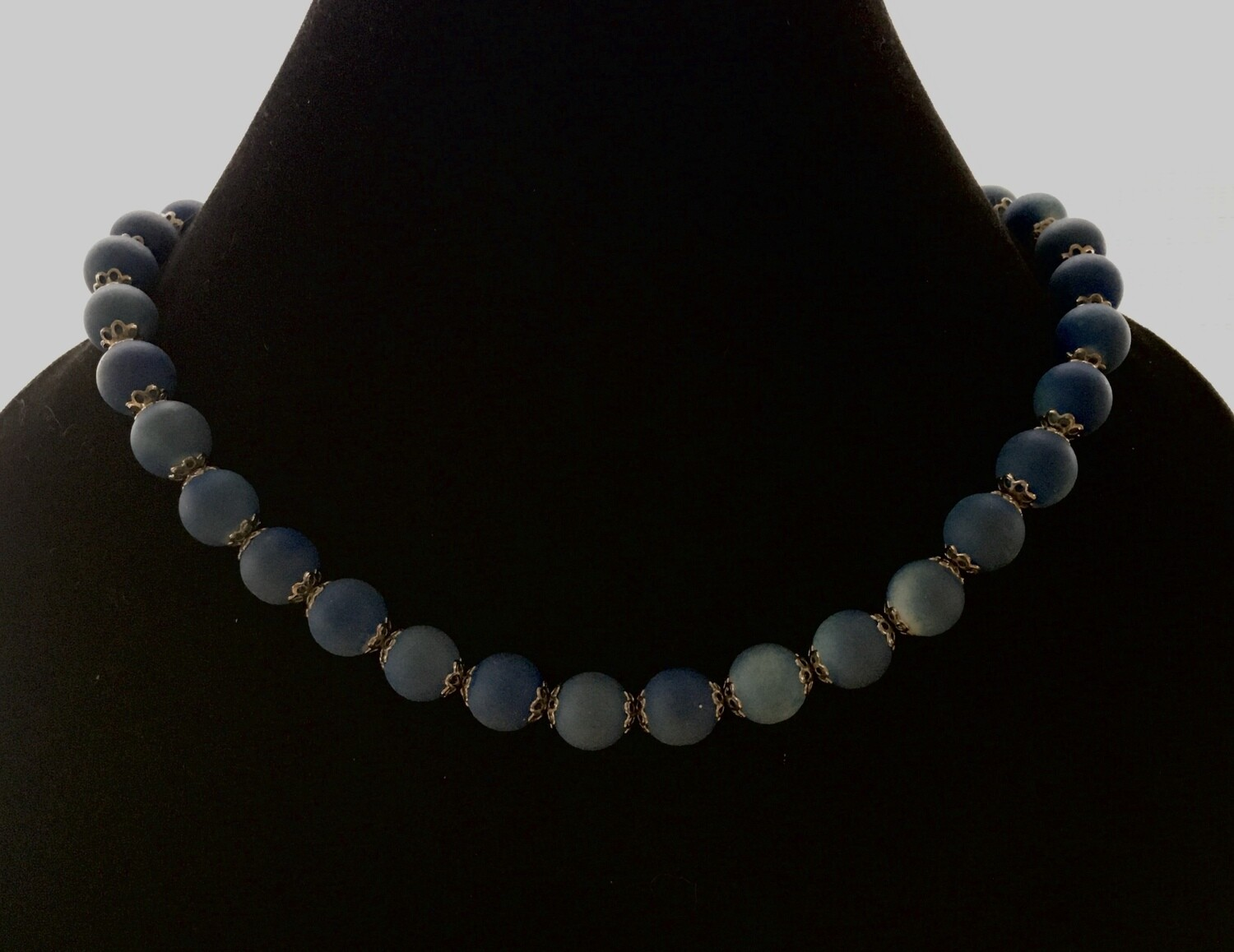 Blueberry agate necklace