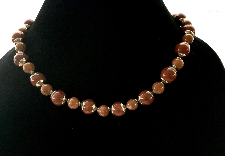 Autumn chestnut necklace