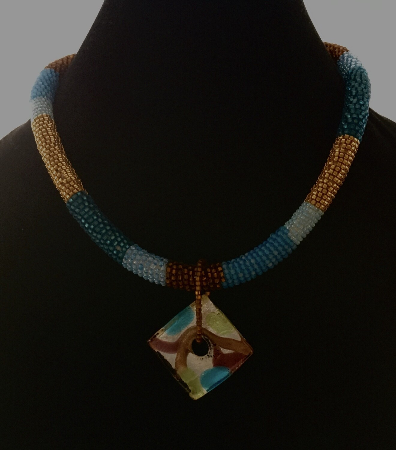 Zulu style with murano glass focal necklace