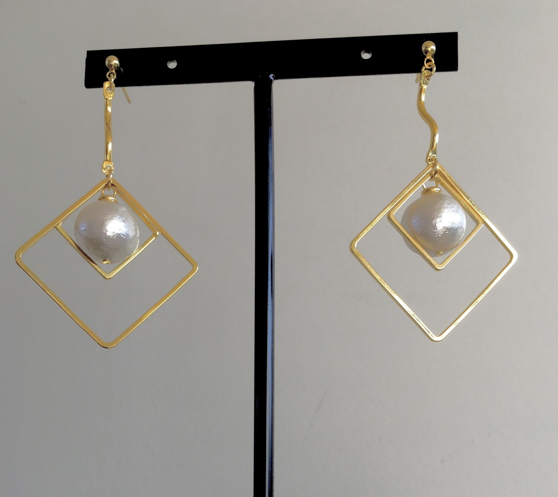 Moon in squares earrings