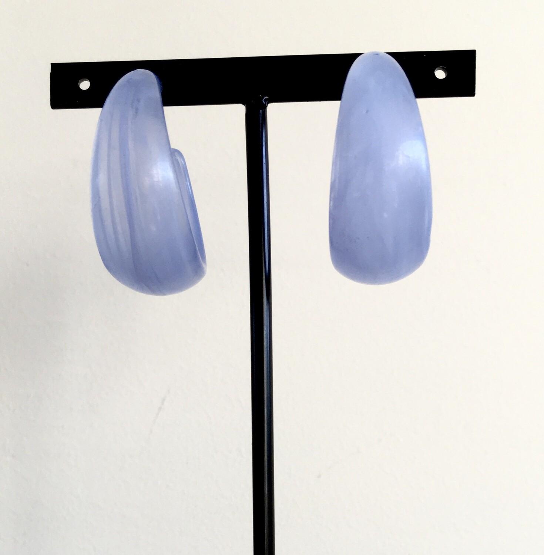 Baby blue bangles earrings