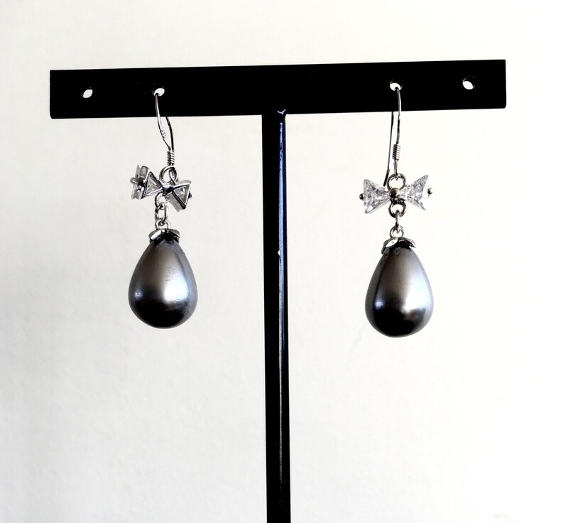 Black grape earrings
