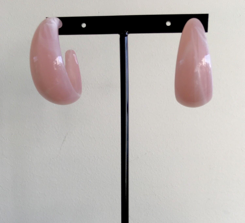 Pink bangles earrings