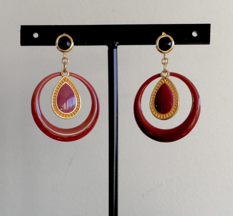 Mediterranean sunset earrings