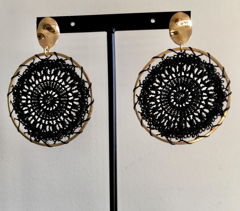 Noire dream catcher earrings