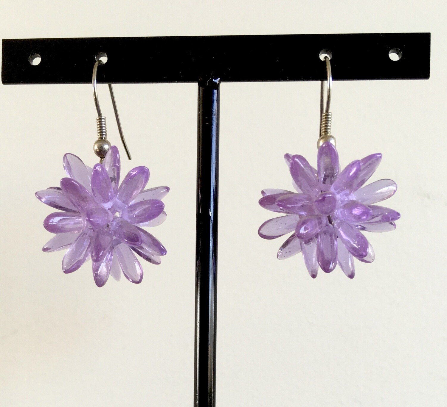 Purple spikes earrings