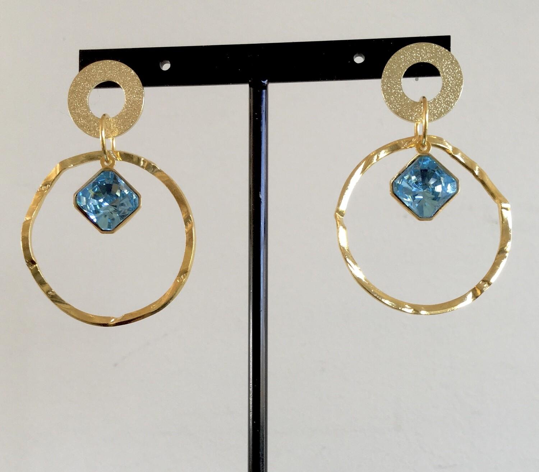 Topaz girl earrings