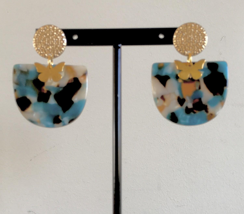 Florentine fan 2 earrings