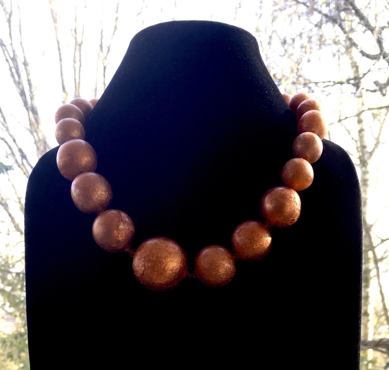 """Bronze """"Mardi gras"""" bubbles necklace"""