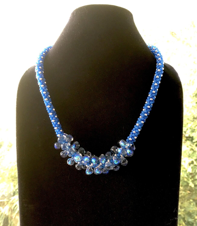 Glacier bubbles Kumihumo necklace