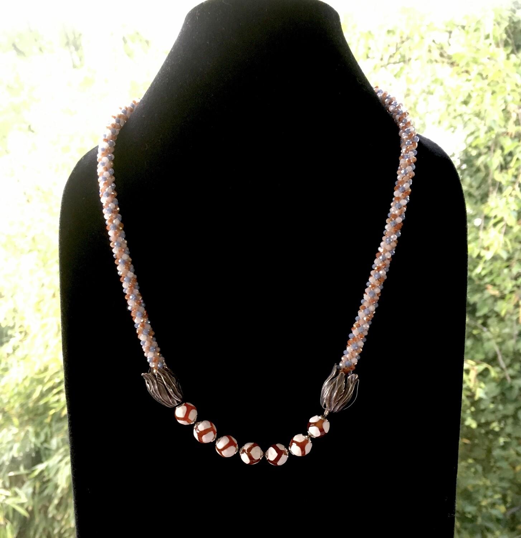 7 buds Kumihumo necklace