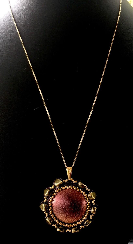 Bronze medallion pendant