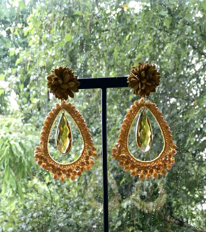 Amber Bling earrings