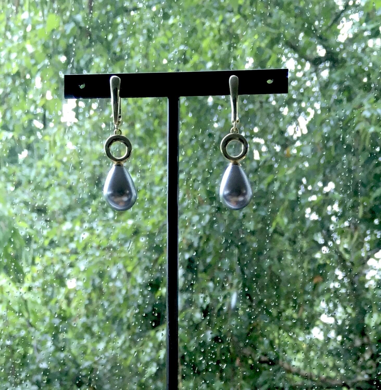 """""""Tahiti"""" Pearl drop earrings"""