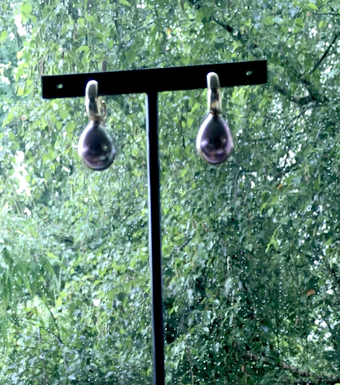 """""""Black tears """" Pearl earrings"""